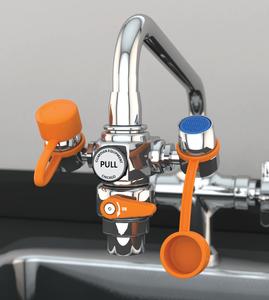 EyeSafe Faucet-Mounted Eyewash with Faucet Control Valve