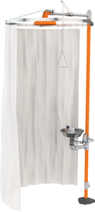 Modesty Curtain for Horizontal Showers and Safety Stations