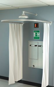 Modesty Curtain for Recessed Laboratory Units