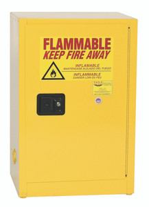 Eagle® Flammable Cabinet, 12 gallon Cabinet 1 Door, Self-Closing