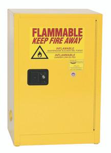 Eagle® Flammable Cabinet, 12 gallon Cabinet 1 Door, Self-Closing