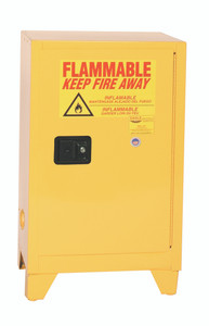 Eagle® Flammable Cabinet, 12 gallon Tower Cabinet 1 Door, Self-Closing