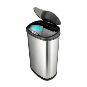 Automatic Waste Can, 13.2 gallon, Touch Free, Stainless Steel
