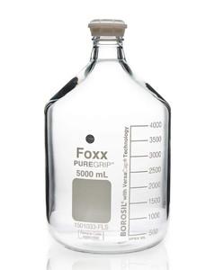 PUREGRIP Glass Bottles Media Round Clear GL45 VersaCap 5000mL