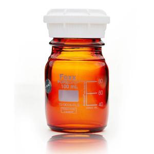 PUREGRIP Glass Bottles Media Round Amber GL45 VersaCap 100 mL