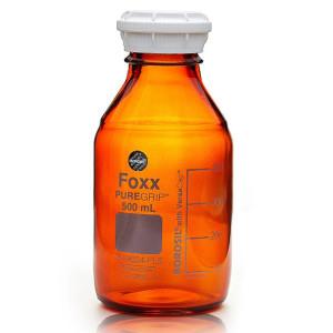 PUREGRIP Glass Bottles Media Round Amber GL45 VersaCap 500mL