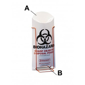 Trash Bag Stand for Biohazard/ Sharp Object/ Trash Pouch