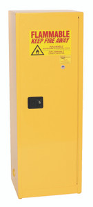 Eagle® Flammable Cabinet, 24 gallon Slim Cabinet with 1 Door, Self-Closing