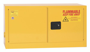 Eagle® Flammable Cabinet, 15 gallon Stackable, 2 Door, Manual close
