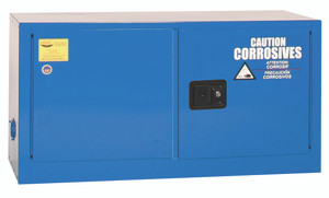 Eagle® Acid Safety Cabinet 15 gal Blue Stackable, Manual close for Corrosives