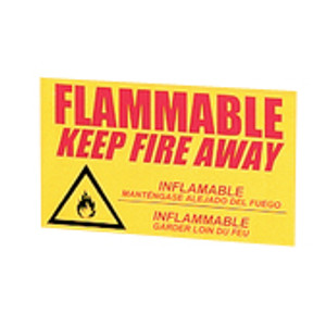 "Eagle® Replacement Decal ""Keep Fire Away"" Label for Flammable Safety Cabinets, Large"