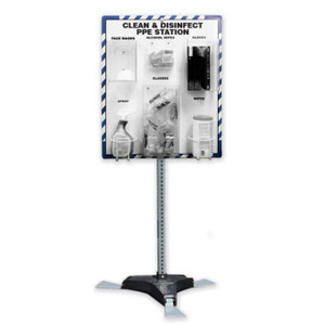"""Clean and Disinfect PPE Station, with Stand, 32"""" x 27"""", Station Only"""
