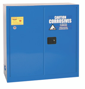 Eagle® Acid Safety Cabinet, 30 gallon, 2 Door, Self-Closing for Corrosives