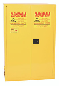 Eagle® Vertical Drum Safety Storage Cabinet 60 gallon with 2 Doors, Self-Closing