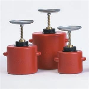 Eagle® Plunger Can, 2 Quart Polyethylene
