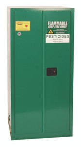 Eagle® Pesticide Drum Safety Cabinet, 55 gallon, 2 Door, Self-Closing with rollers