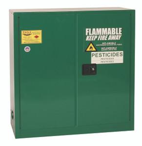 Eagle® Pesticide Safety Storage Cabinet, 30 gallon, 2 Door, Self-Closing