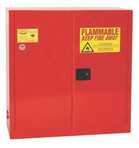 Eagle® Combustible Safety Cabinet, 40 gallon, 2 Door, Self-Closing, Red