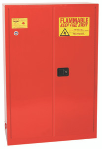 Eagle® Combustible Safety Cabinet, 60 gallon, 2 Door, Manual Close, Red