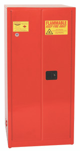 Eagle® Combustible Safety Cabinet, 96 gallon, 2 Door, Manual Close, Red