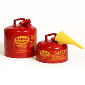 Eagle® Type I Safety Can, 2 gallon Metal with PE Funnel