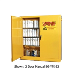 Eagle® Combustible Safety Cabinet, 40 gallon with 1 Door, Self-Closing, Yellow