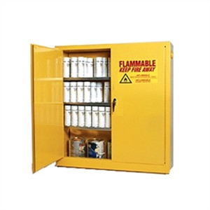 Eagle® Combustible Safety Cabinet, 40 gallon with 2 Door, Self-Closing, Yellow
