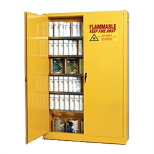 Eagle® Combustible Safety Cabinet, 60 gallon with 2 Door, Self-Closing, Yellow