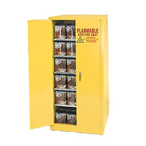Eagle® Combustible Safety Cabinet, 96 gallon with 2 Door, Self-Closing, Yellow