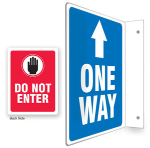 """90D Projection Sign, One Way / Do Not Enter, English, 12"""" x 9"""" Panel"""