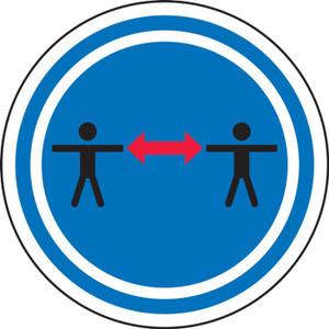 """Social Distancing Pavement Sign, Social Distance Symboll, 17"""", Each"""