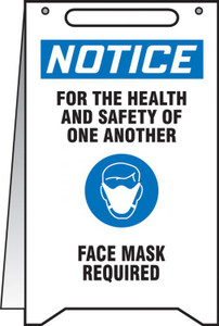 "OSHA Notice Fold-Ups Safety Sign, For The Health And Safety Of One Another Face Mask Required, 20"" X 12"", Each"