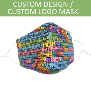 Custom Logo / Full Custom Design Face Mask, Soft Cotton Fabric, 3-Ply, MOQ 500