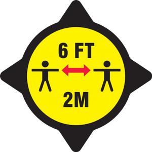 Slip-Gard Floor Sign, 6 FT 2M Yellow, Each