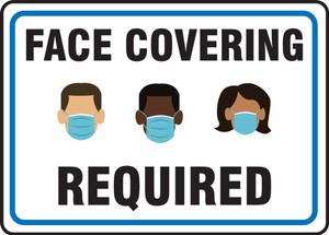 Safety Sign, Face Covering Required, Each
