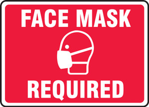 Safety Sign, Face Mask Required, Each