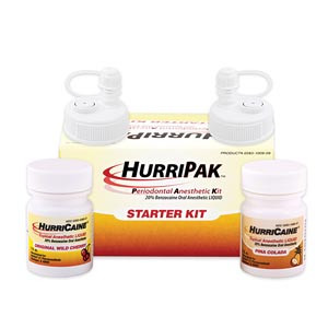 HurriPAKPeriodontal Anesthetic Starter Kit, Wild Cherry & Pina Colada
