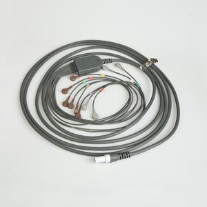 "10 Lead Patient Cable For Q-Stress, AHA 25"" Leadwires, Snap Connection"