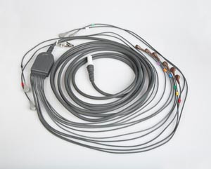 "10 Lead Patient Cable For Q-Stress, AHA 43"" Leadwires, Snap Connection"