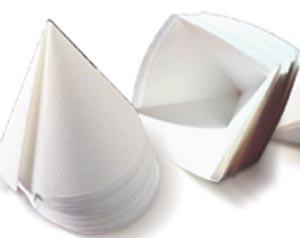 Cone Filter Paper, GR 40, 125mm, 1000 per pack