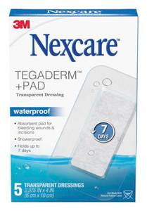 """3M Absolute Waterproof Premium Adhesive Pads, 2-3/8"""" x 4"""", 5 per box, 12 boxes per case"""
