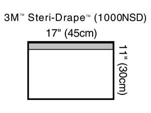 """3M Towel Drape, Small, 11"""" x 17"""", Non-Sterile, Clear Plastic, Adhesive Strip, 100 per case"""