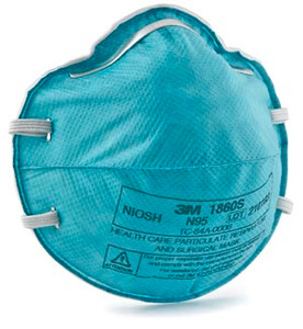 3M Particulate Respirator Mask Cone Molded, Small, 20 per box, 6 boxes per case