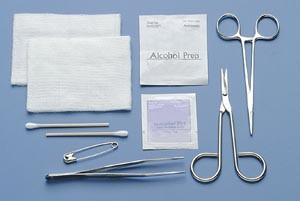 "tray, 4-1/2"" Sharp/ Sharp Scissors & Straight 5"" Mosquito Hemostat, Sterile, 20 per case"