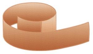 "Wrap-Around Fabric Bandage, 3/4"" x 4 11/16"", Bulk, 1500 per case"