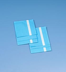 "Drape, Blue, Adhesive Strip, Sterile, 18"" x 26"", Non-Absorbent, 2 per pack, 50 pack, per case"