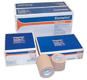 "Elastic Adhesive Bandage, 4"" x 5 yds, Tan, 16 per case"