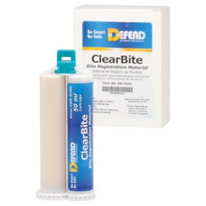 ClearBite. Unflavored. 2x50 mL cartridges + 6 pink mixing tips per box, 40 boxes per case
