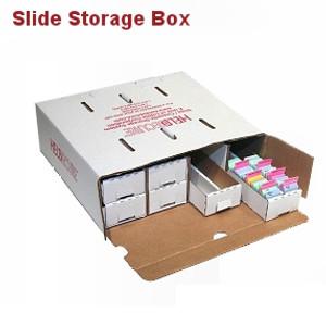 Microscope Slide Storage Box, Assembled, pack/5