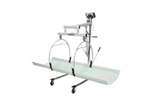 """Digital In-Bed/ Stretcher Scale, Capacity: 400 lbs/181 kg, Resolution: 0.2 lb/0.1kg, Stretcher Dimension: 70-1/2"""" W x 30 """"D, Connectivity via USB, 1-1/2"""" High-Contrast Color TFT-LCD Display, 120V Adapter"""